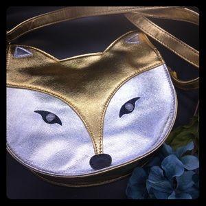 Handbags - NWOT Metallic fox purse